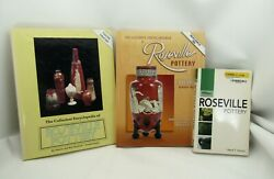 3 Collectors Encyclopedia Of Roseville Pottery Value Price Guide Books