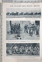 1914 India Ww1 Print Britains And Indians March To Battle London Scottish Lancers