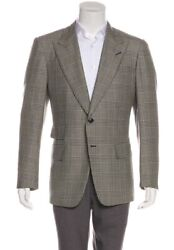 Tom Ford Wool Plaid Blazer ,suits,bowtie,tuxedo,bag,loafer,sneakers,shirt,tie