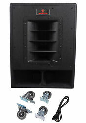 Rockville Rbg15fa 15and034 2400w Active Powered Pro Subwoofer Folded Horn Pa/dj