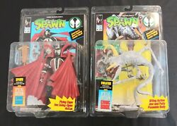 Spawn 1 With Flying Cape And Violator 1 Action Figure Lot Todd Toys Tmp 1994 Moc