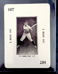 Ty Cobb 1914 Wg-4 Polo Grounds Game, Ty Cobb, 3 Base Hit Excellent