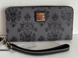 Disney Dooney And Bourke Haunted Mansion Wallpaper Wallet Wristlet Great Placement