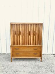 Mid Century Modern Louvered Front Gentlemanand039s Chest By Thomasville