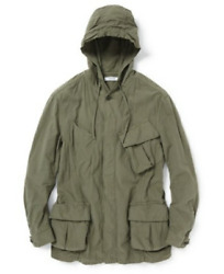 Nonnative Mens Ripstop Trooper Hooded Jacket Olive Green Made   Japan Sz 4 Xl