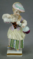 Eugene Clauss Paris Hand Painted Georgian Girl With Jug And Decanter Figurine