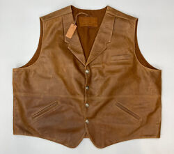 Nwt Coronado Leather Concealed Carry Vest Canel - Size 62 Tall Cut