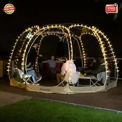12x12and039 Greenhouse Pop Up Portable Bubble Tent Weather Pod Camping Gazebos Patios
