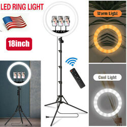 18led Ring Light W/mount Kit And Stand For Tiktok Camera Phone Video Live Stream