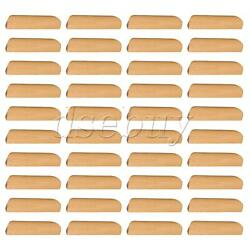 40 Pieces Wooden Cabinet Handle Cupboard Drawer Pulls 96mm Hole Pitch For Home