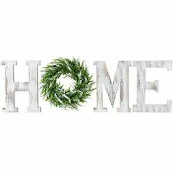 LOSOUR Home Letters with Wreath Farmhouse Decor for The Home Clearance Wood L...