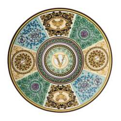Versace Rosenthal Barocco Mosaic Service Plate 33 Cm 1299 -official Versace