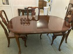 Queen Anne Cherry Furniture Byamerican Drew - Dining Room Great Cond