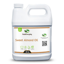 Sweet Almond Oil 32 Oz. - 100 Pure Organic Virgin Cold Pressed Hair Skin Face