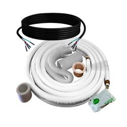 Copper Ductless Mini Split Line Connection Accessory Kit 1/4and039and039-3/8and039and039