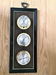 Vintage Springfield Weather Station Wall Hang Thermometer Humidity Barometer Usa
