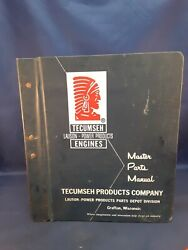 Vintage Tecumseh Engines Lauson Power Products Master Parts Manual 1960s 90s