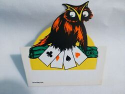 Dennison's Mint - Rare- Owl Halloween Name Place Party Card-unused