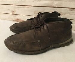 Caterpillar Brown Leather Chucka Boots Shoes Mens Size 10w P717056