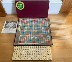 Vintage Scrabble Board Game.j.w Spear And Sons Ltd.new Plastic Tiles Edition. New