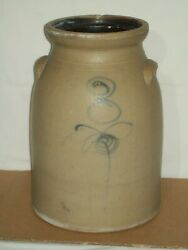 Primitive 3 Bee Sting Red Wing Stoneware Butter Churn Crock Rare Shape
