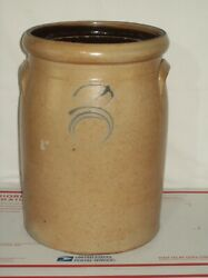 Primitive 3 Bee Sting Red Wing Stoneware Butter Churn Crock Turkey Drips