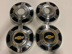 73-87 Chevy 3/4 Ton Dog Dish Hubcaps 12 Set Of Pickup Truck 4x4