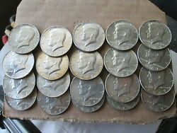 1967 Kennedy Half Dollars, 40 Silver, Roll Of 20, No Junk, Xf Or Better, Circ.
