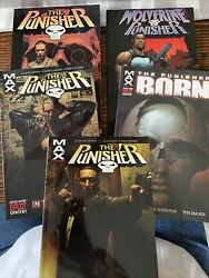 The Punisher Comic Paperbacks Lot Of 5