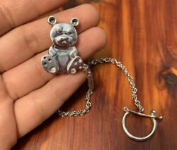 Ilaria, Bear Sterling Silver 925, Safety Pin For Baby Diaper