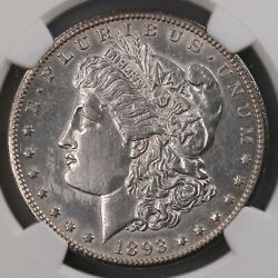 1893-cc Morgan 1 Ngc Certified Au Details Harshly Cleaned Carson City Silver