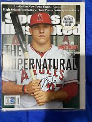 Mlb Mike Trout Signed Nl Sports Illustrated Coa Supernatural Aug 27 2012 Angels