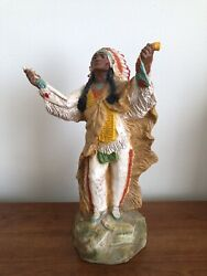 Vintage Universal Statuary Native American Indian Chief Statue 1981 Tribe