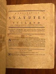 Rare 1792 Collection Of English Statutes In Force In The State Of North Carolina