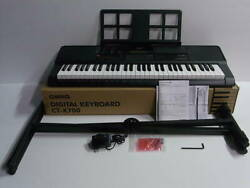 Casio 61 Keyboard Electronic Piano Ct-x700 2018 Stand With Ac Adapter