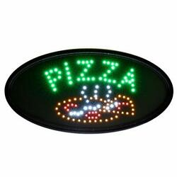 Alpine Industries Led Pizza Sign Oval - Commercial Grade Eye Catching Sign - ...