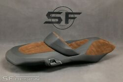 Sf-design Bmw C650gt 2011-2021 Exclusive Seat Cover Brown Check Board Perfora