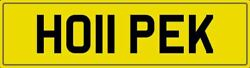 Hope K Theme Number Plate Ho11 Pek Registration With All Fees Included Hopes Reg