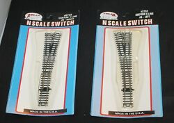 Atlas N Scale Switch 2753 And 2752 Left And Right 6 Switches Lot Set