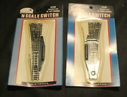 Atlas N Scale Switch 2706 And 2707 Left And Right 6 Switches Lot Set