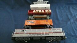 Lionel 2321 Maroon Top Set 2223w W 6464-100 Blue Feather And 4 0ther Cars Ln