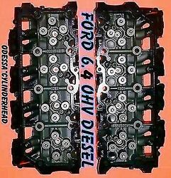 New Pair Ford 6.4 Powerstroke V8 Twin Turbo Diesel F350 Cylinder Heads No Core