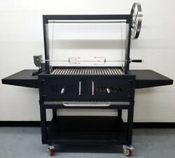 New Outdoor Argentine Santa Maria Charcoal Wood Bbq Grill Spit Roaster Parrilla