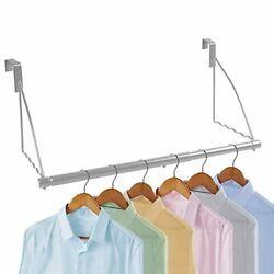 Over-the-door Collapsible Clothes Hanger Chrome Chrome