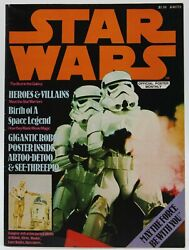 Star Wars Poster Monthly 1977 Magazine C3-po And R2-d2 Poster Stormtroopers Vf+