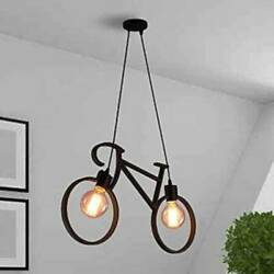 Cycle Shaped Hanging And Pendant Light And Lamp Black Pendants Ceiling Lamp