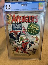 Avengers 6 Cgc Graded 8.5 Vf+ First 1st Appearance Of Baron Zemo Disney