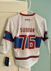 Nwt 2016-2017 Nhl Winter Classic Team Youth Pk Subban Montreal Canadiens Jersey