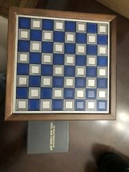 National Historical Society Civil War Pewter Chess Set Franklin Mint 1983