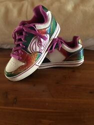 Heelyand039s Motion Plus Glitter Rainbow Roller Skate Shoes Womenand039s Size 8